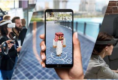 Exemple de réalité virtuelle, réalité augmentée et réalité mixte